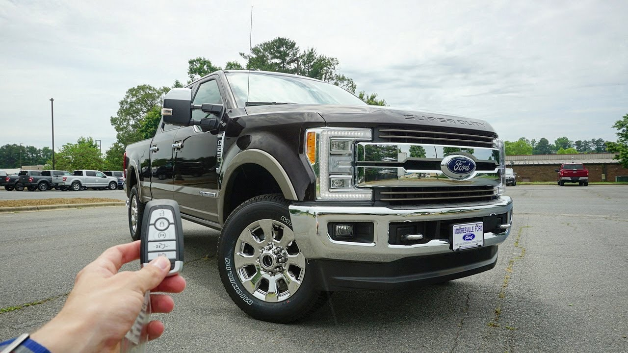 2018 Ford F 250 Super Duty King Ranch Start Up Walkaround Test