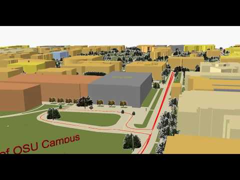 3D Geovisualization of the Ohio State Campus