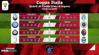PES 2021 • Quarti di Finale di Coppa Italia 2020/21 • Calci di Rigore • COM vs COM