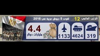 أقوى 5 جيوش عربية في 2016 ... والجيش المصري يتفوق على إسرائيل وإيران
