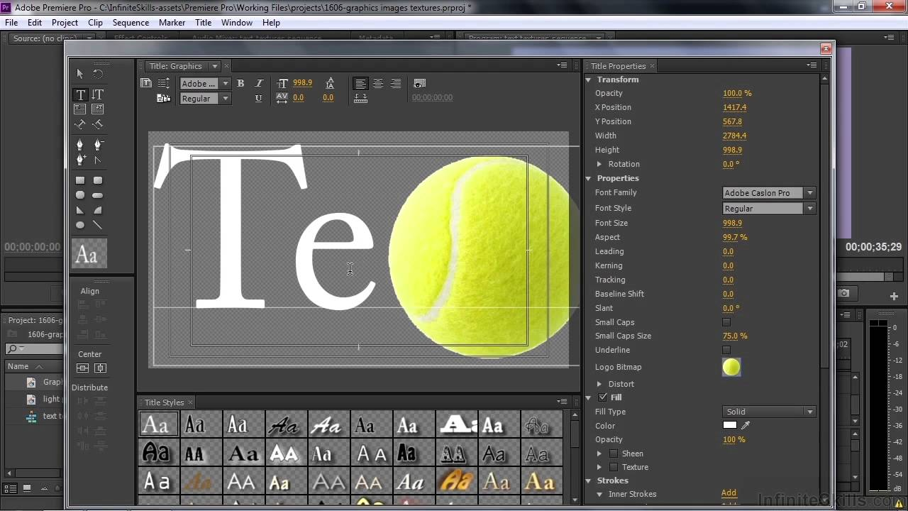 Adobe premiere pro cc tutorial adding graphics images and adobe premiere pro cc tutorial adding graphics images and textures to titles youtube ccuart Choice Image