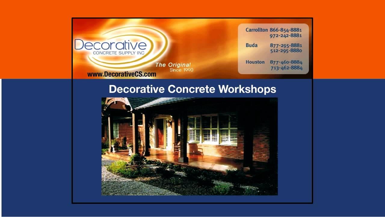 Decorative Concrete Supply Provides Experienced Project Advice In Midland Odessa