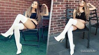 Imitando fotos de Ariana Grande