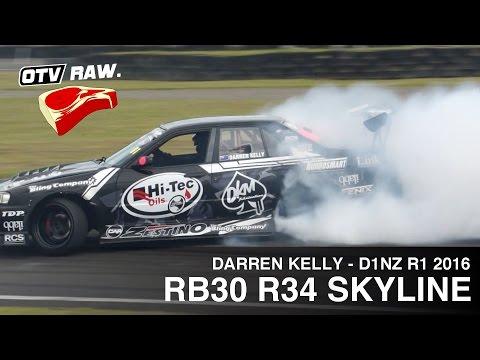 RAW: Darren Kelly RB30DET R34 Skyline - D1NZ Drifting Manfeild 2015