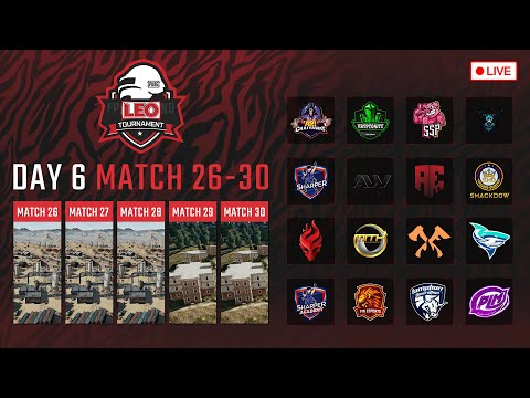 🔴LEO PUBG Tournament DAY6