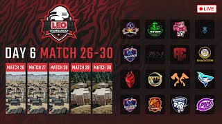 🔴LEO PUBG Tournament DAY6