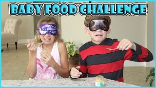 BABY FOOD CHALLENGE | We Are The Davises