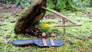 SURVIVAL TIPS - How to Make a Figure Four Deadfall Trap - Taking a Look at my New Bushcraft Tool
