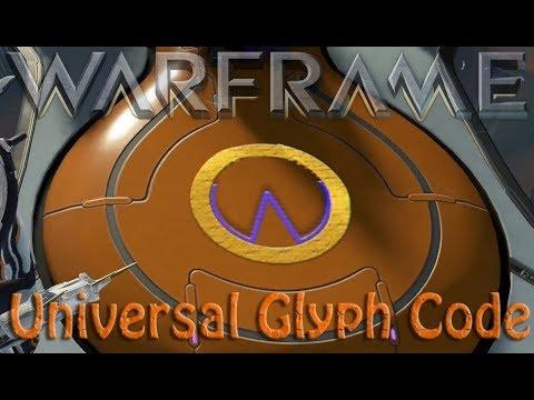 Warframe - Universal Glyph Code