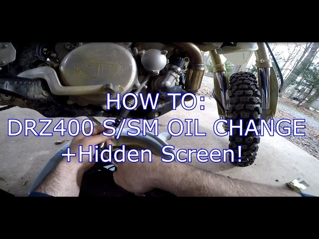 HOW TO: DRZ400 SM or S OIL CHANGE + HIDDEN SCREEN!