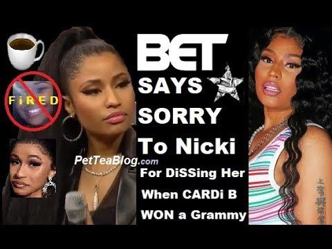 B.E.T Apologizes to Nicki Minaj for Cardi B Grammy's Tweet Diss & FiRES Journalist ❌👀 Mp3
