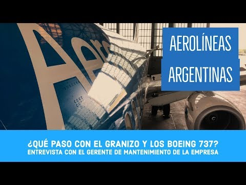Reparación de los 737 de Aerolíneas Argentinas por granizo
