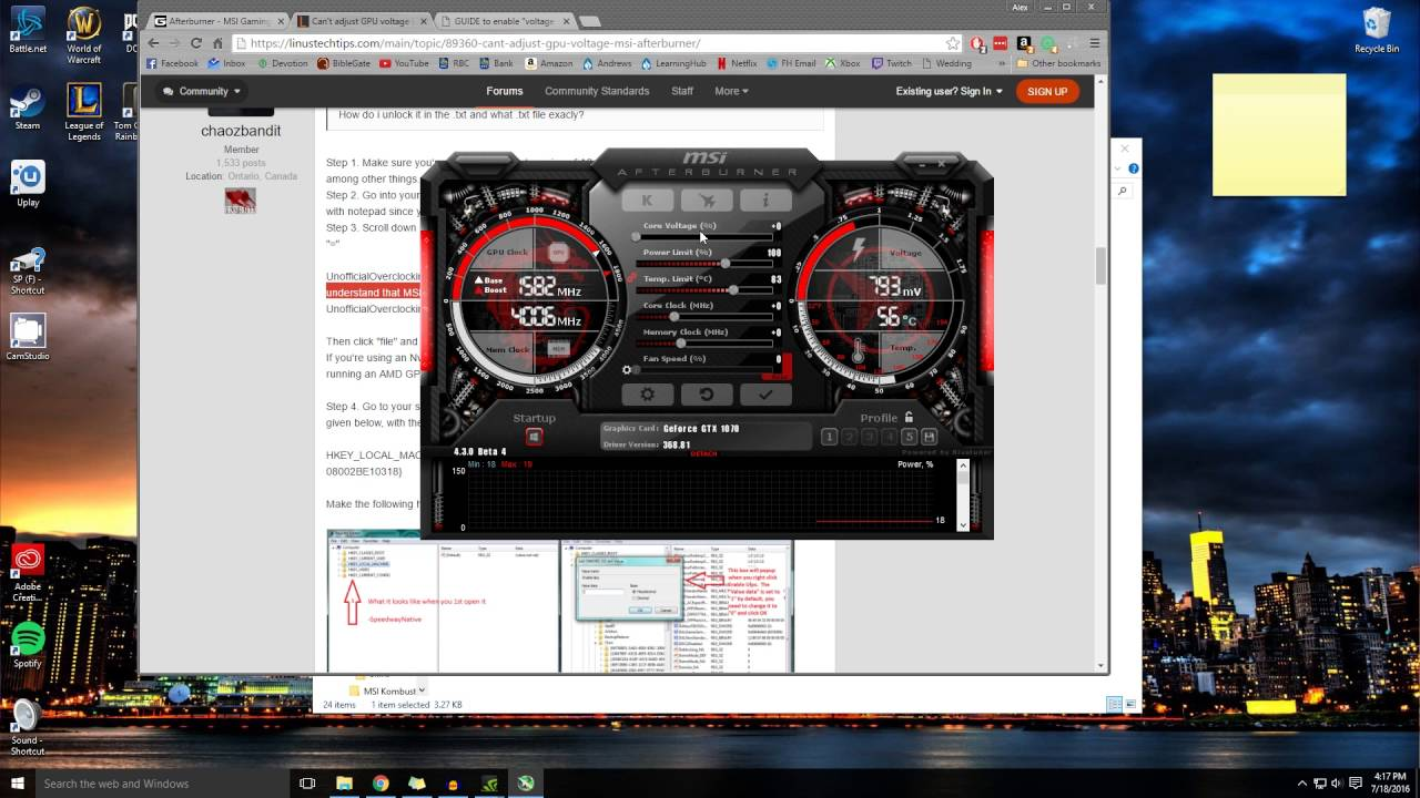 How to unlock CORE VOLTAGE in MSI Afterburner 4 different ways!!