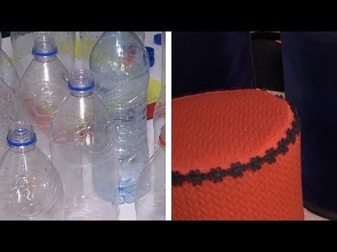 Школьница из Душанбе придумала делать пуфики из пластика