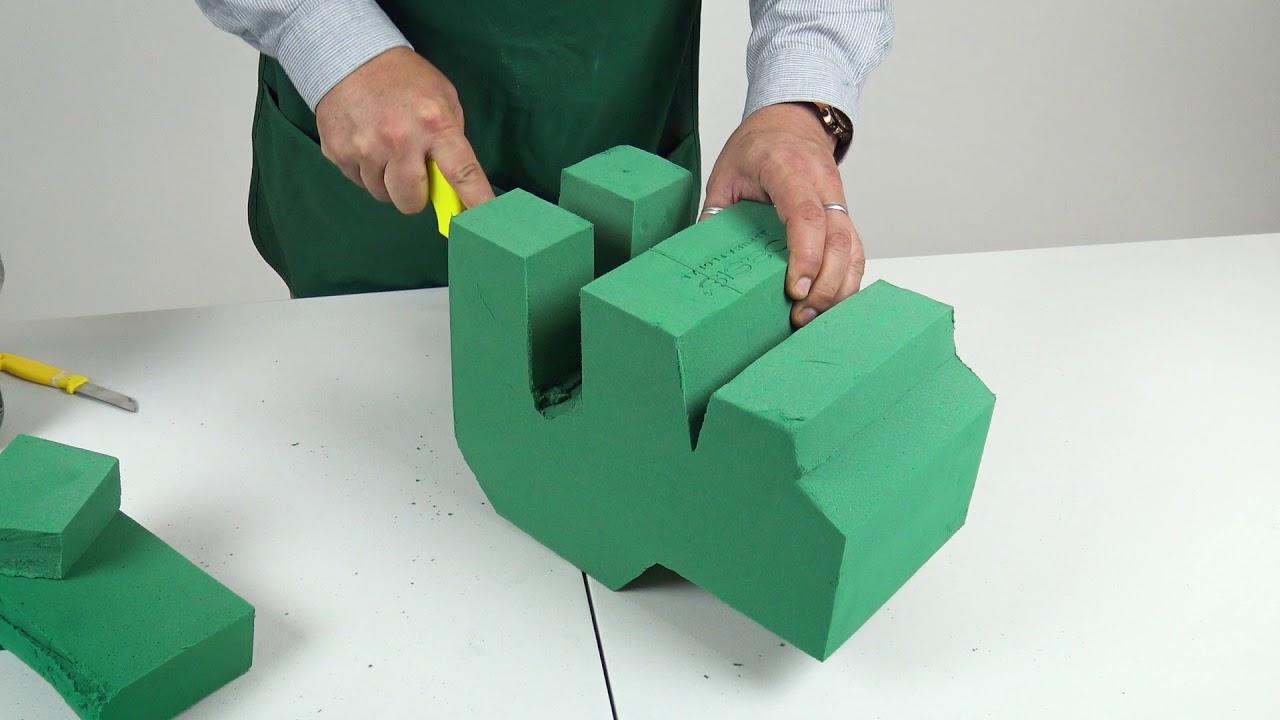 ¿Cómo hacer un oso 3D con espuma floral?