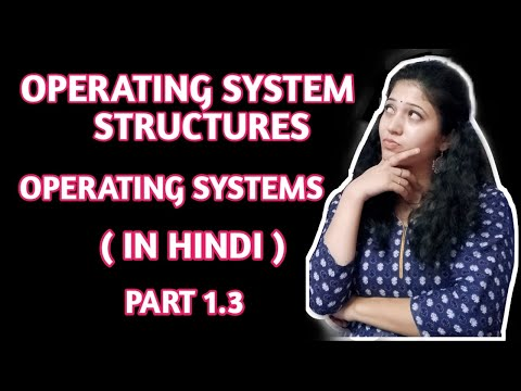 Structures of Operating System |NTA NET | Operating System | In Hindi