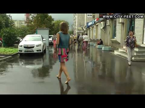 Barefoot Walking and Shopping after Rain