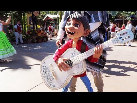 """Miguel puppet in """"A Musical Celebration of Coco"""" Disneyland"""