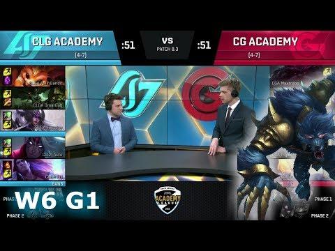 CLG Academy vs Clutch Gaming Academy | Week 6 of S8 NA Academy League Spring 2018 | CLGA vs CGA
