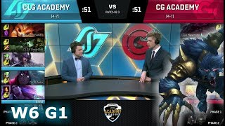 Video CLG Academy vs Clutch Gaming Academy | Week 6 of S8 NA Academy League Spring 2018 | CLGA vs CGA download MP3, 3GP, MP4, WEBM, AVI, FLV Juni 2018