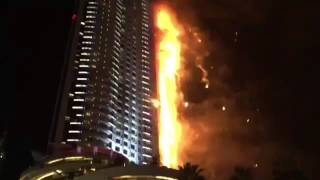 The Address Downtown Dubai Hotel  Fire 31.12.2015