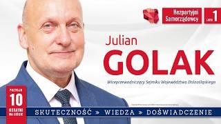 Julian Golak - kandydat do Sejmiku Województwa Dolnośląskiego