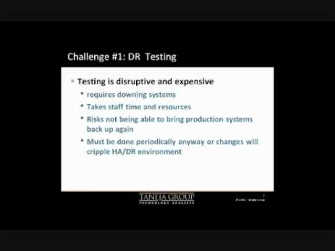 Disaster Recovery Management (DRM) in 11 Min