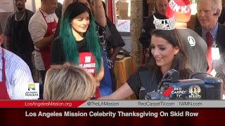 Los Angeles Mission Celebrity Thanksgiving On Skid Row