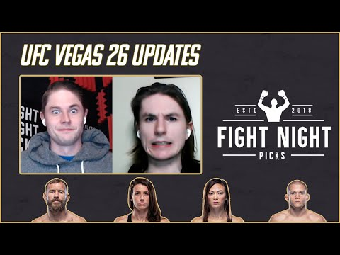 UFC Vegas 26 Updates - Fight Night Picks