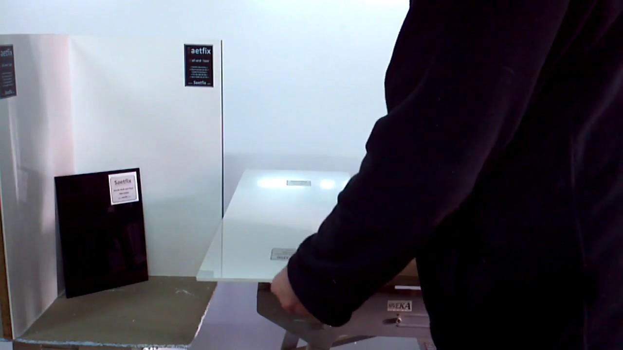 Saetfix sterke acrylplaten voor uw douche acrylwanden - YouTube