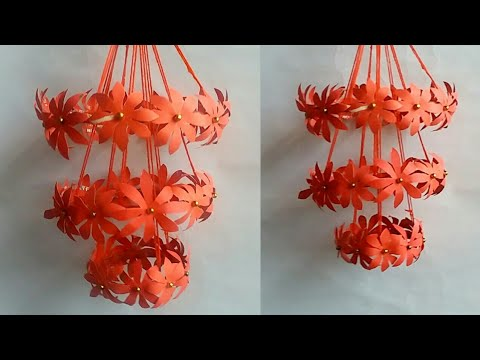 Diy paper craft ideas | paper wind chime | paper wall decoration ideas |  Diy paper flower