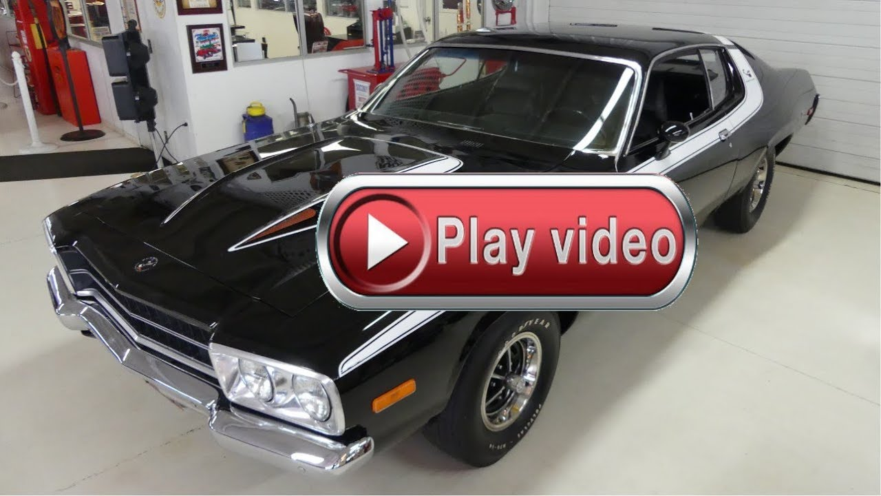 sold sold sold 1973 plymouth road runner mopar 340 4 speed pistol grip [ 1280 x 720 Pixel ]