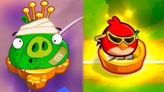 Энгри Бердс 2 с Кидом #13 Снобская гора и Порхающие вершины в Angry Birds на крутилкины
