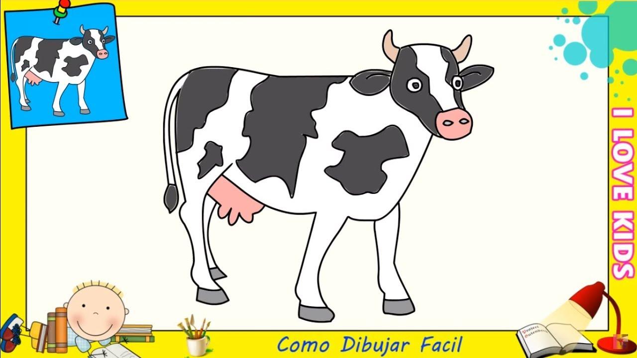 Dibujos De Vacas FACILES Paso A Paso Para Niños
