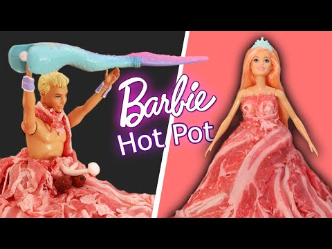 DIY Melon Hot Pot & Barbie Meat Dress // Shabu Shabu Versus