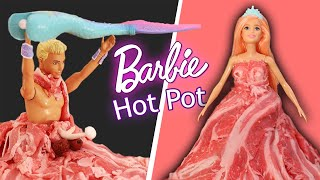 We made our own Meat Dress Barbie & Melon Hot Pot // JP Versus Julia
