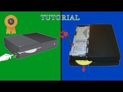 How to manually eject a disk from ps4 and xbox one #TC