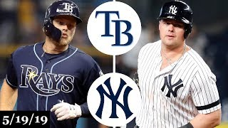 Tampa Bay Rays vs New York Yankees - Full Game Highlights | May 19, 2019 | 2019 MLB Season