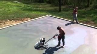 Concrete Tech Finish Floor Garage Foundation