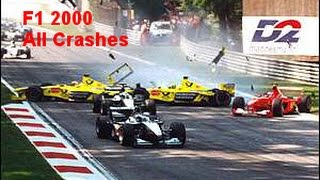 F1 2000 All Crashes