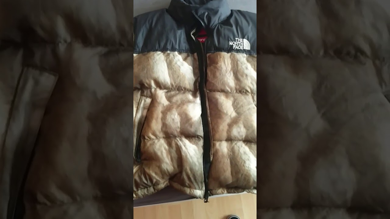 7d036093a2 How to legit check a supreme X the north face nuptse - YouTube