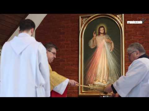 Poświęcenie obrazu Jezusa Miłosiernego w Ostródzie