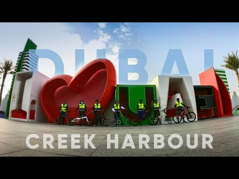 DUBAI Creek Harbour  Folding Bike Ride
