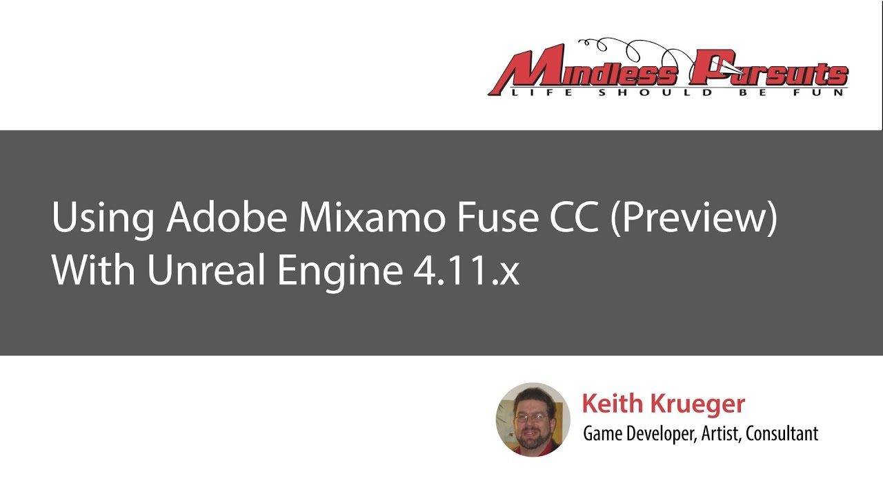 Using Adobe Mixamo Fuse CC (Preview) with Unreal Engine 4 11