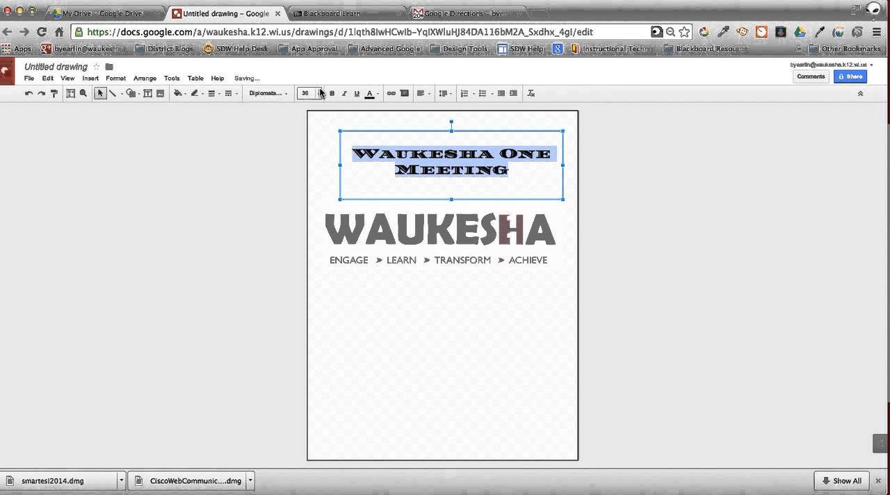 using google drawings for flyers posters and handouts youtube