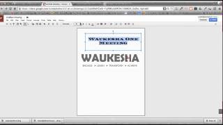 Using Google Drawings for Flyers, Posters and Handouts