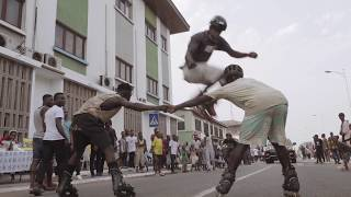 on the street in Accra, Ghana: chale wote 2017