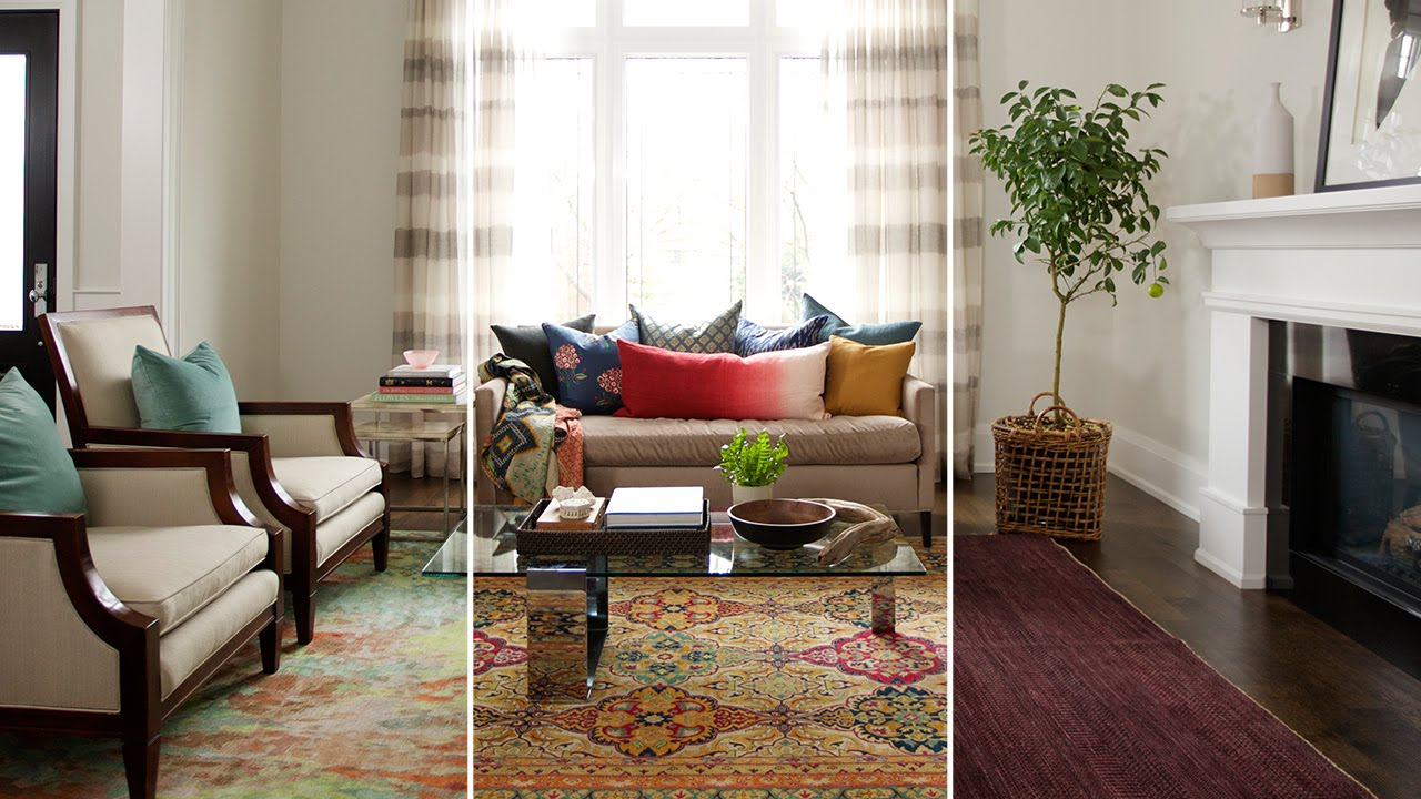how to use a rug in a tv room