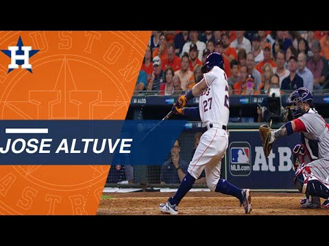 BOS@HOU Gm 1: Jose Altuve Leads Astros With Three Homers In Game 1 Of The ALDS