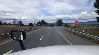 BigRigTravels LIVE! Interstate 82 Westbound south of Kennewick, Washington